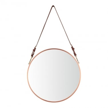 Aria Hanging Wall Mirror, Copper