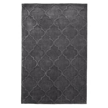 Hong Kong Hand Tufted Floor Rug, Dark Grey