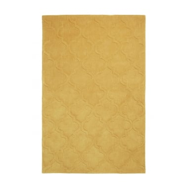 Hong Kong Hand Tufted Floor Rug, Mustard