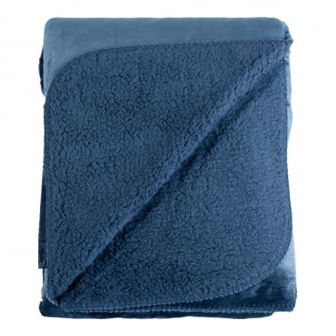 Cosy Soft Fleece Throw, Blue