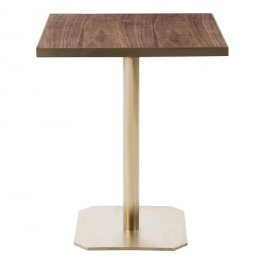 Raleigh Square Café Table, Walnut Effect Top, Square Base