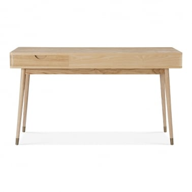 Putney Home Office Desk, Solid Ash Wood, Natural