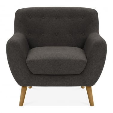 Trent Armchair, Wool Touch Fabric, Dark Grey