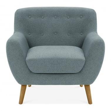 Trent Armchair, Wool Touch Fabric, Light Blue