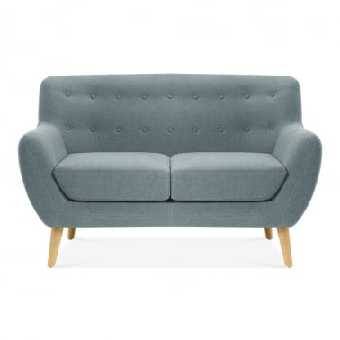Trent 2 Seater Small Sofa, Wool Touch Fabric, Light Blue