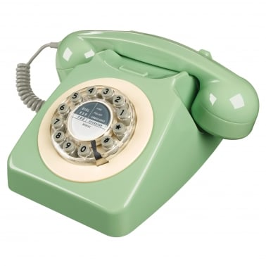 746 Retro 1960s Style Corded Telephone, Peppermint