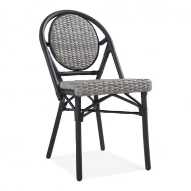 Albion Outdoor Dining Chair, Grey Rattan