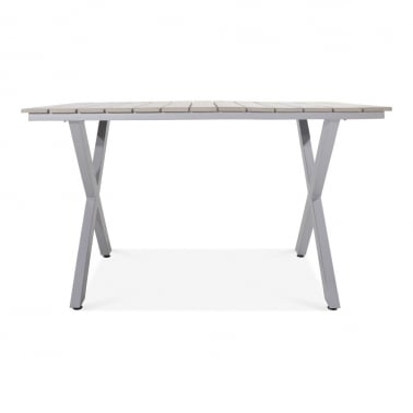 Wardour Outdoor Dining Table, Grey Polywood