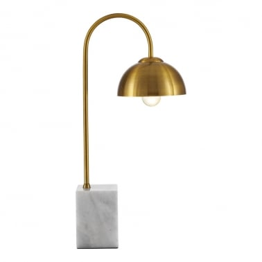 Conway Arc Table Lamp, Marble and Brass
