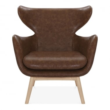 Duchess Winged Armchair, Faux Leather Upholstered, ...