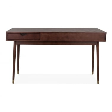 Putney Home Office Desk, Solid Ash Wood, Walnut