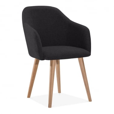 Primrose Dining Armchair, Fabric Upholstered, Black