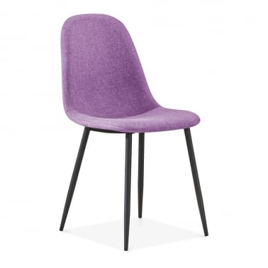 Lilla Dining Chair, Fabric Upholstered, Purple