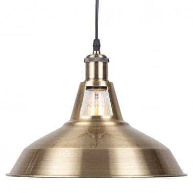 Bushwick Metal Pendant Light, Brass
