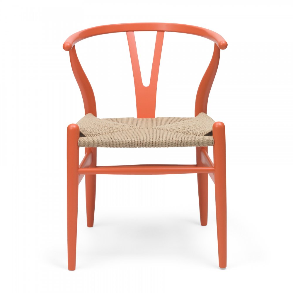 style wishbone chair orange. Black Bedroom Furniture Sets. Home Design Ideas