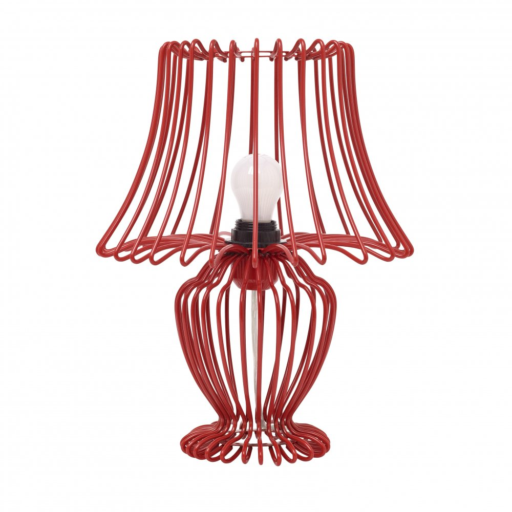 red wire lamp -