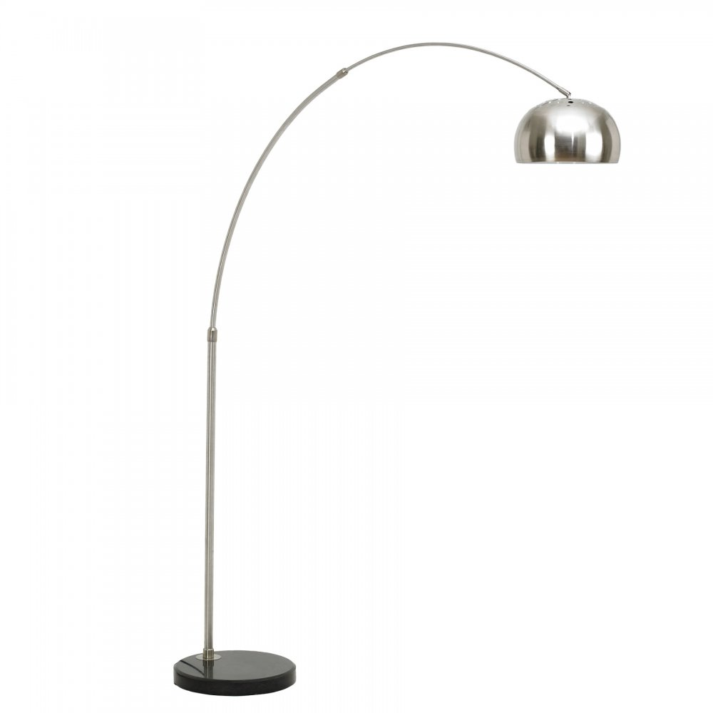 Arc Floor Lamp with Circular Marble Base Modern Lamps Cult UK