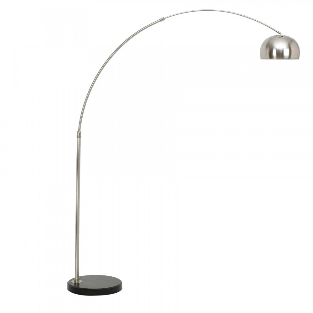 arc floor lamp with circular marble base  modern lamps  cult uk - cult living arc floor lamp  circular marble base ‹
