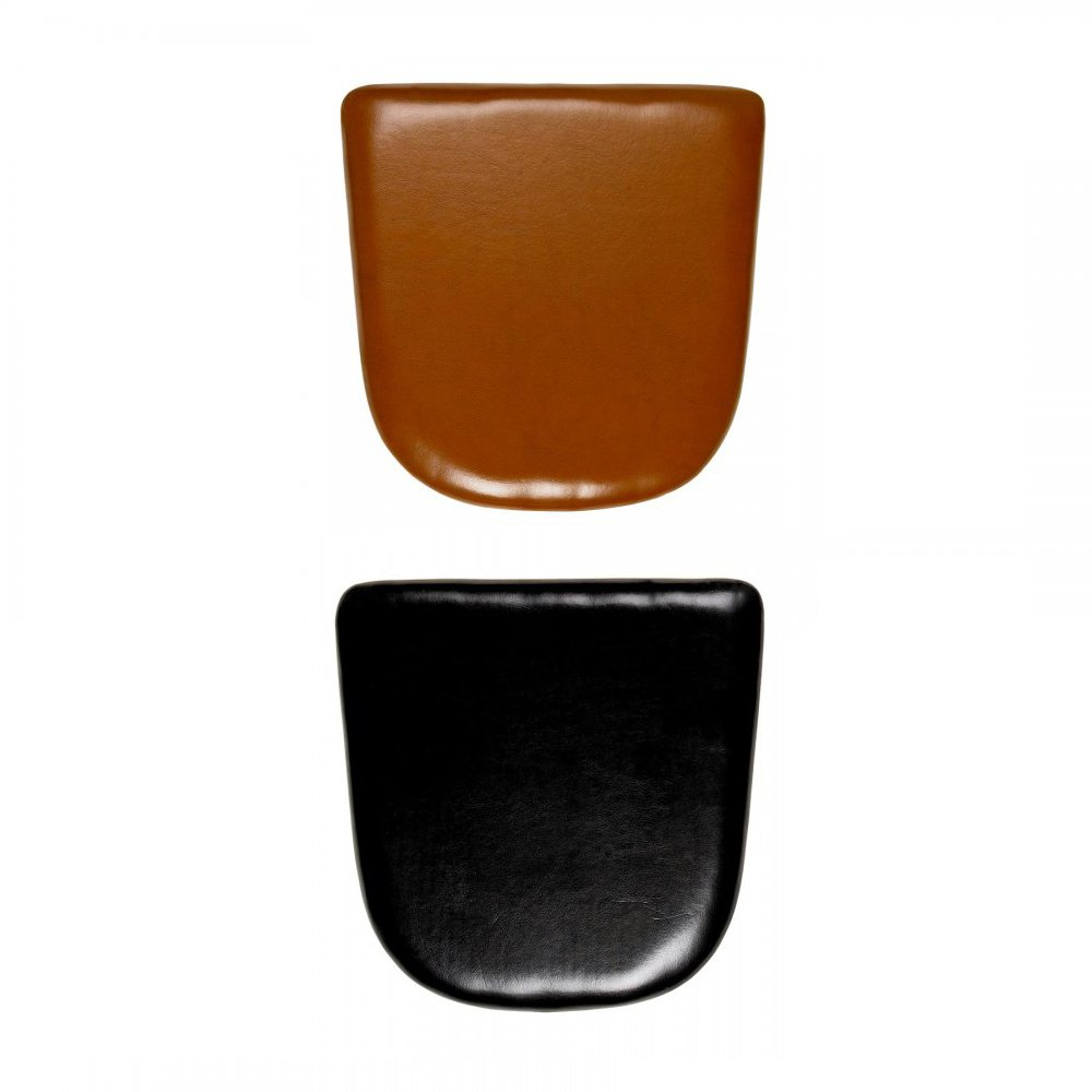 Leather seat pads for tolix style chairs cult furniture for Galette de chaise 50x50