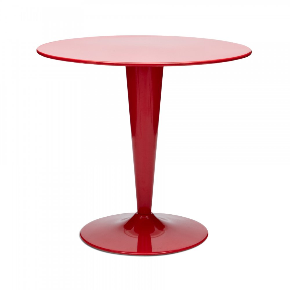 Xavier Pauchard Red Round Bistro Xavier Pauchard Table