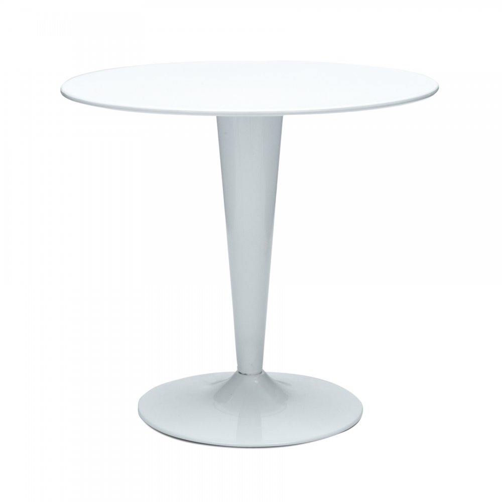 Pin Round Bistro Table Smooth Tabletop With Brushed