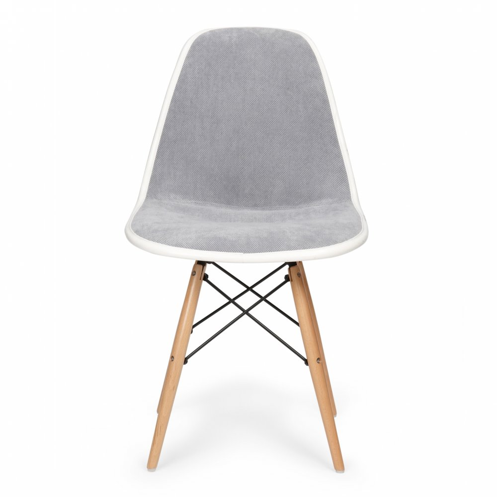 Iconic Designs Style Grey Fabric Upholstered DSW Chair   Seconds Clearance  Stock