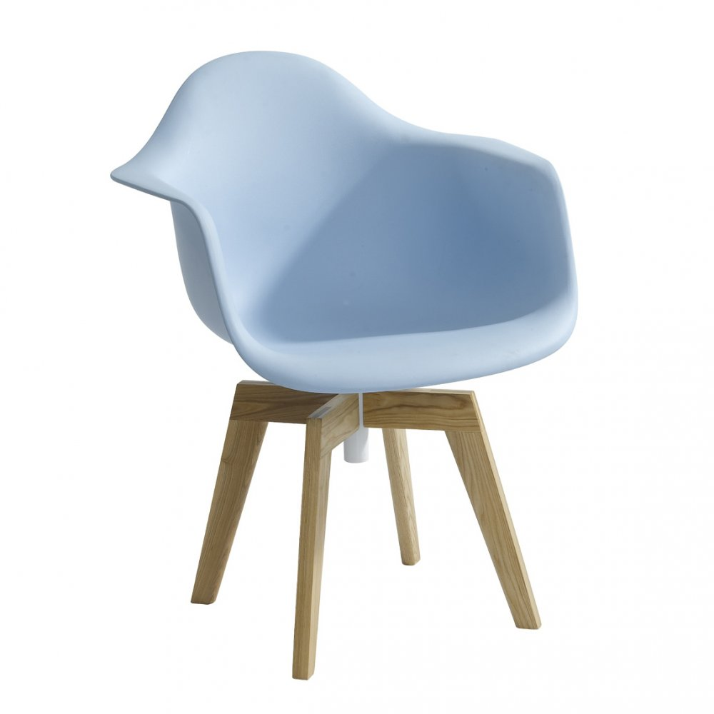 Blue eames flow swivel chair Iconic eames chair