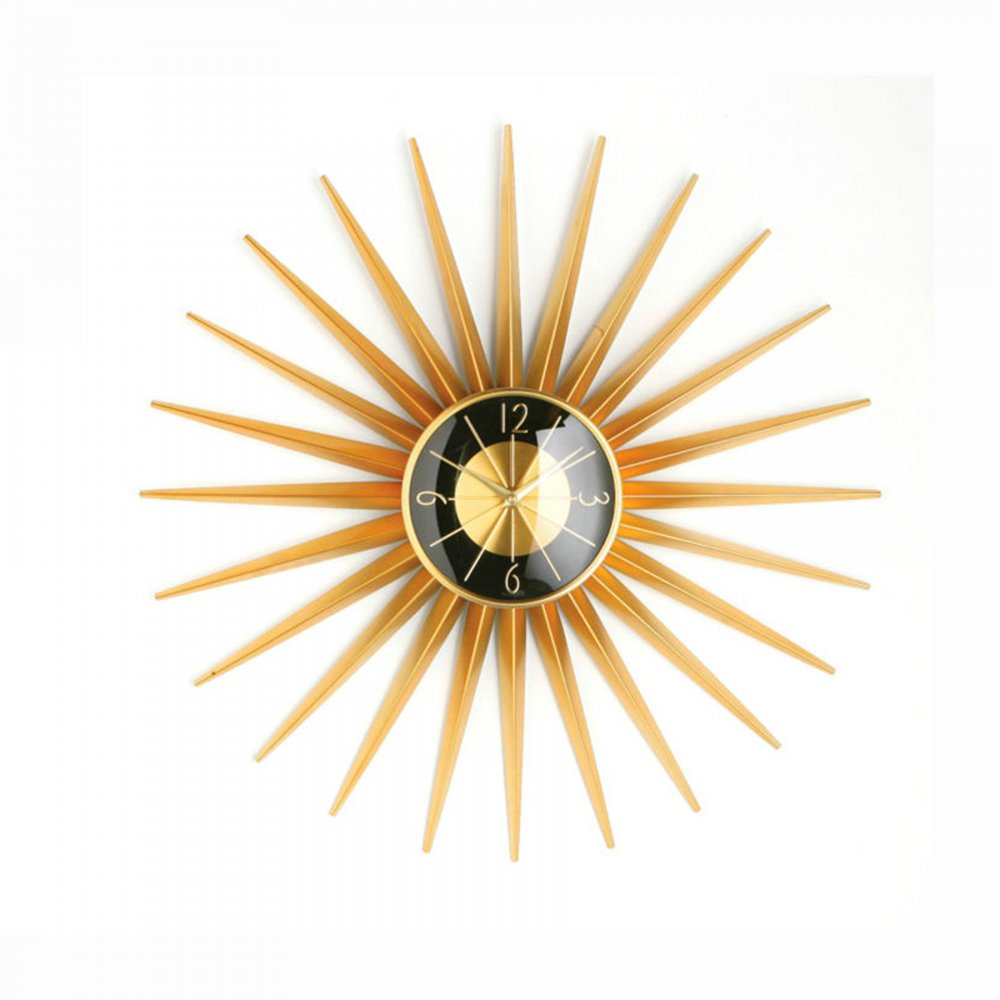 Style gold 24pcs sunray wall clock for Nelson wall clock