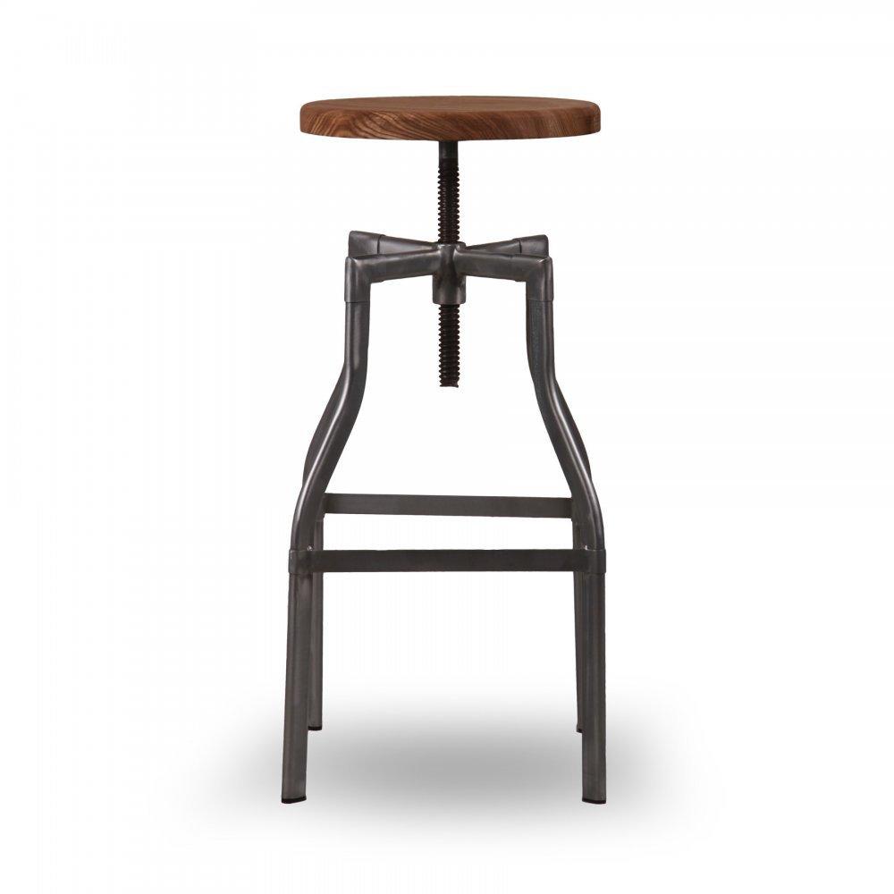 Turner industrial swivel stool kitchen bar stools for Kitchen swivel bar stools