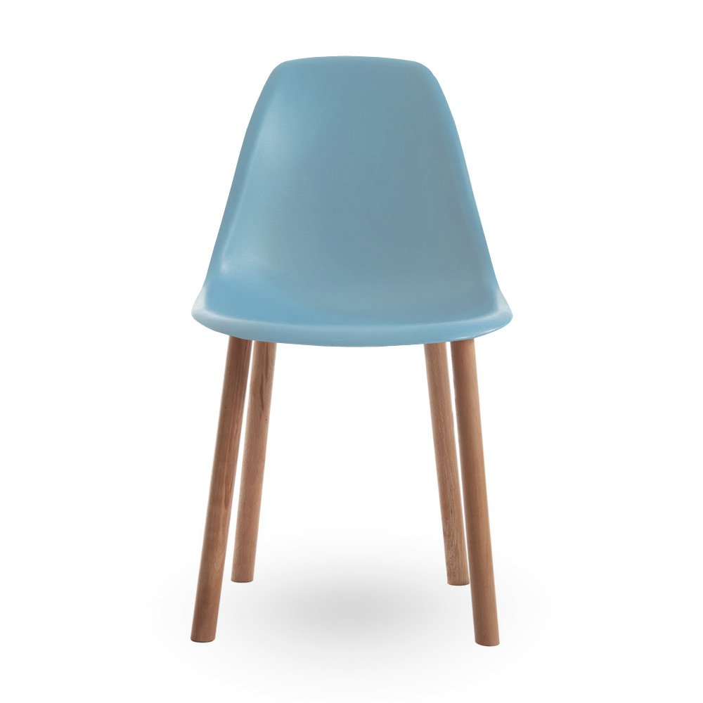 Eames style blue dining chair for Contemporary designer dining chairs
