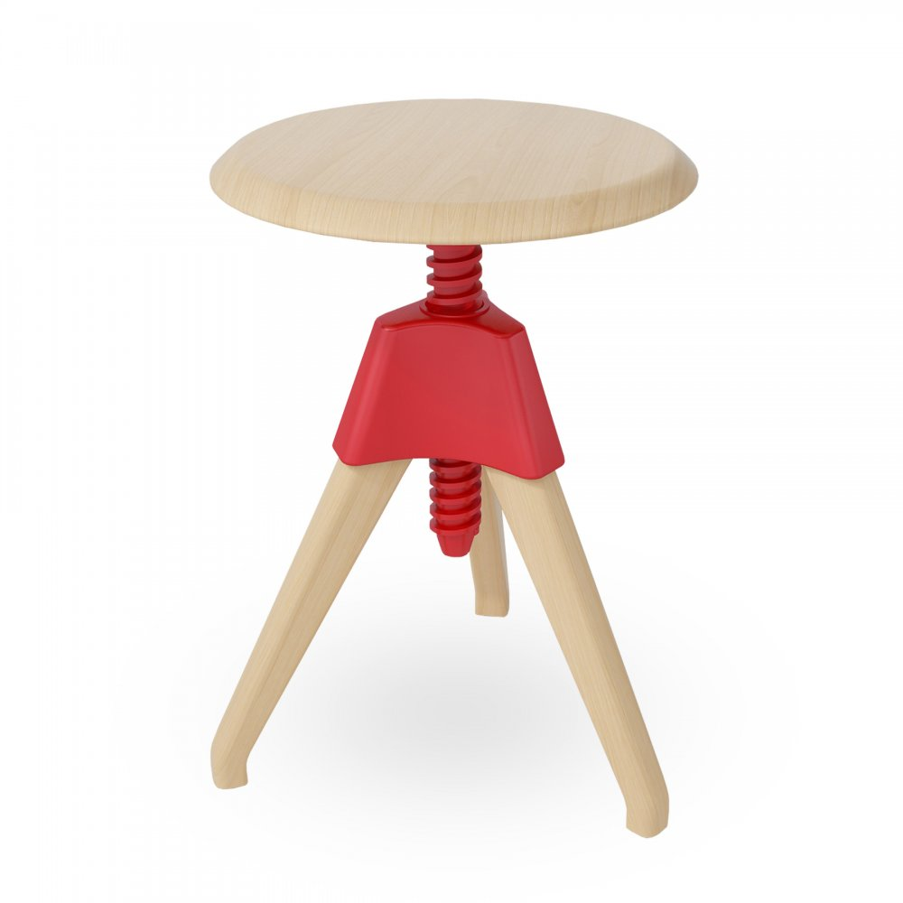 Swivel Stool Red Wood Short Adjustable Swivel Stool  sc 1 st  Cult Furniture & Red Wood Adjustable Stool islam-shia.org