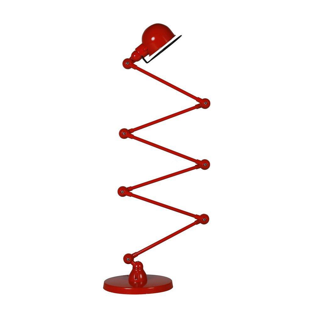 large red loft floor lamp