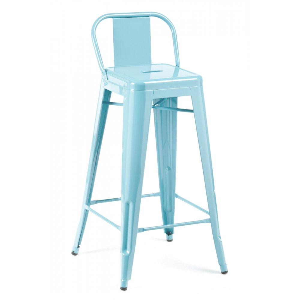 pastel blue 75cm stool low back rest cult uk. Black Bedroom Furniture Sets. Home Design Ideas