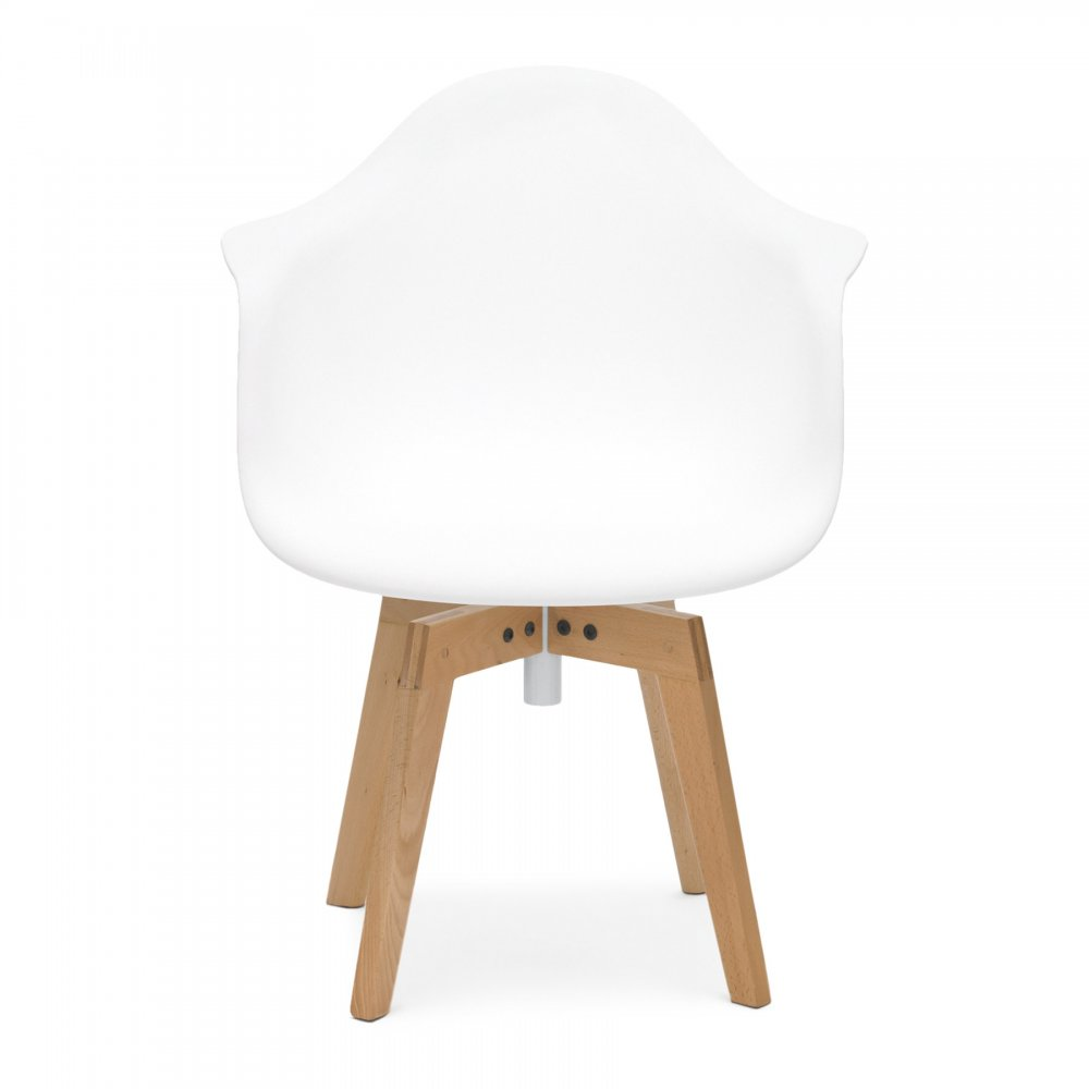 White Eames Flow Swivel Chair