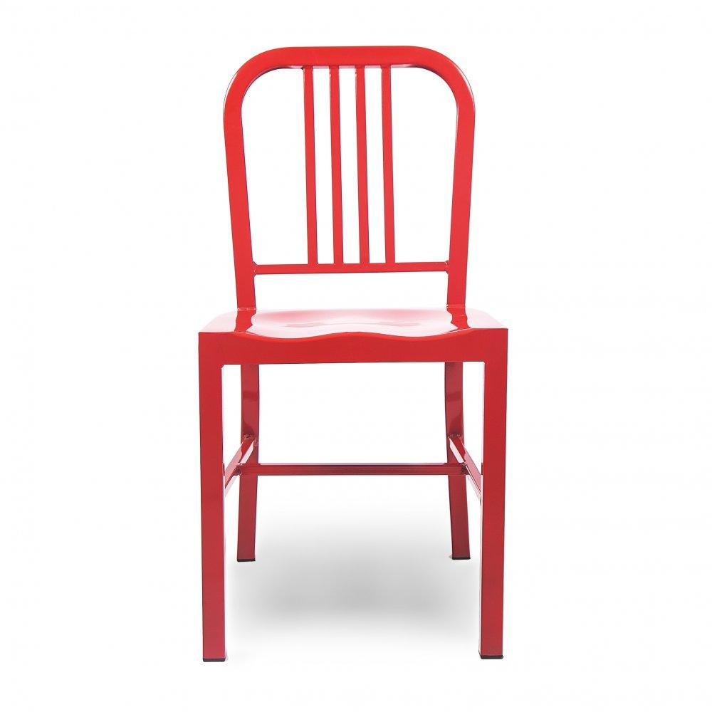 Red Metal Steel Dining Chair