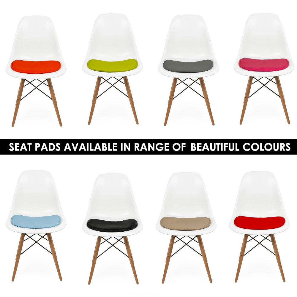 seat pad cushions for eames dsw or dsr side chairs | cult uk - Copie Chaise Eames Dsw