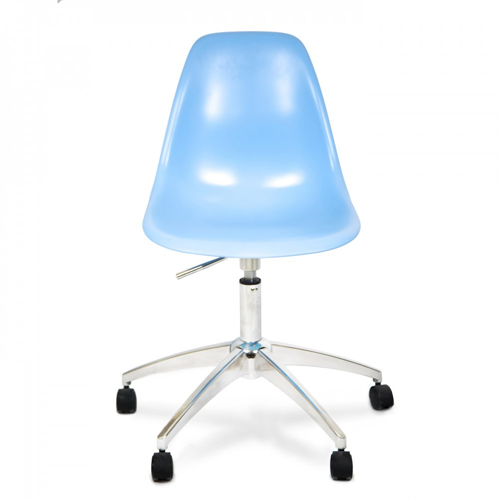 Eames Style Plastic Blue Office Chair  Cult UK