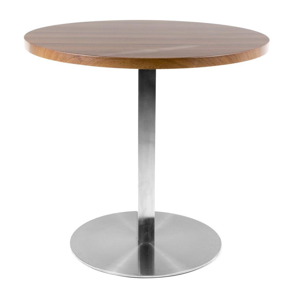 round walnut veneer cafe table cult uk. Black Bedroom Furniture Sets. Home Design Ideas
