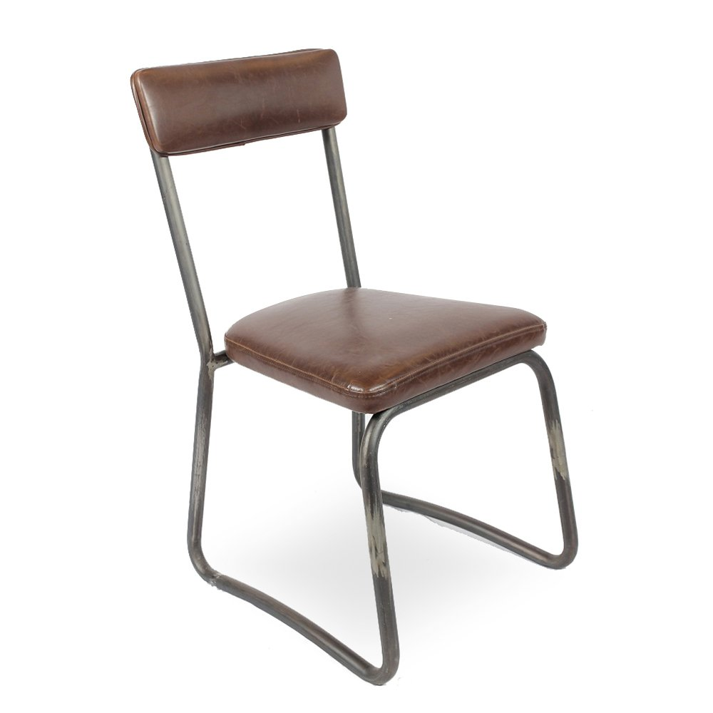 Iconic Designs Leather Metal Chair