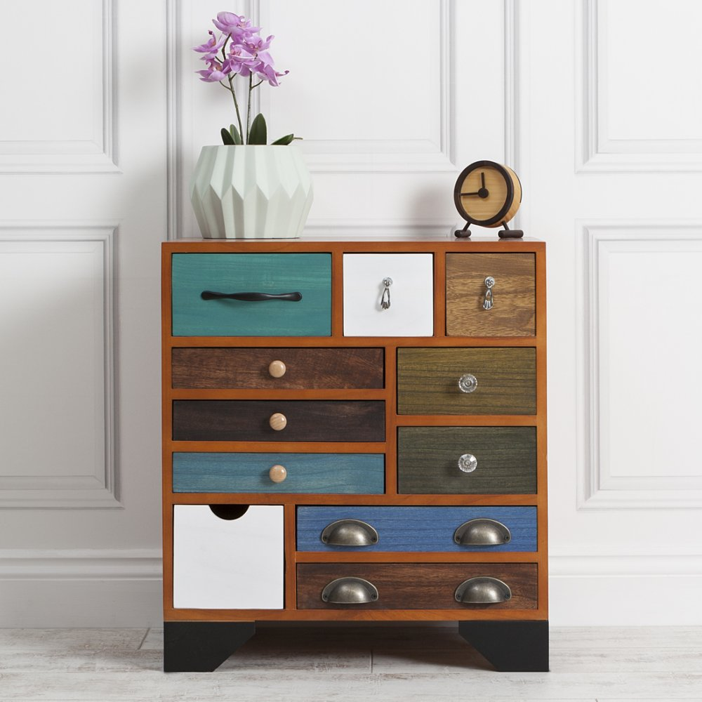 hand crafted multi coloured chest of drawers cult uk. Black Bedroom Furniture Sets. Home Design Ideas