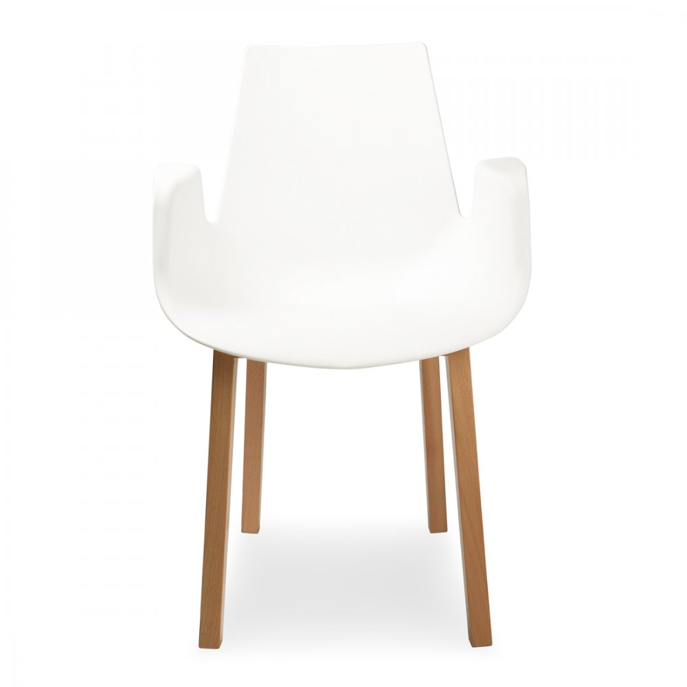 Contemporary White Tub Dining Chair | Cult UK