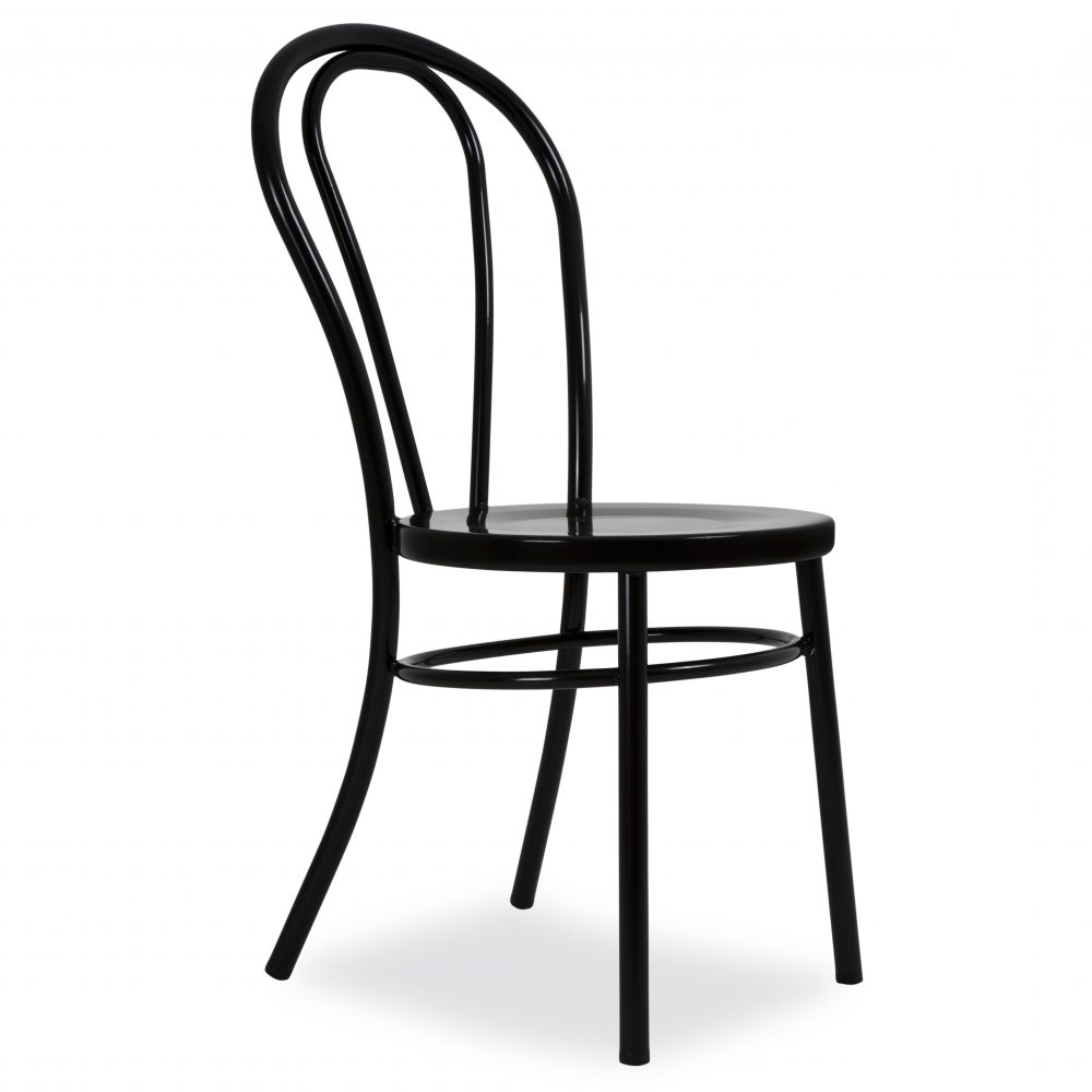 Superb Thonet Style Black Retro Bentwood Steel Chair