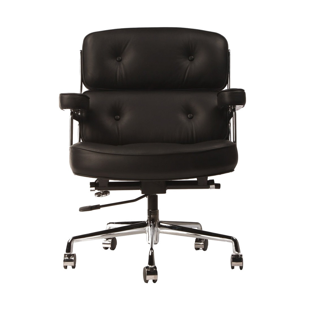 Black eames style lobby chair cult uk for Eames lobby chair replica