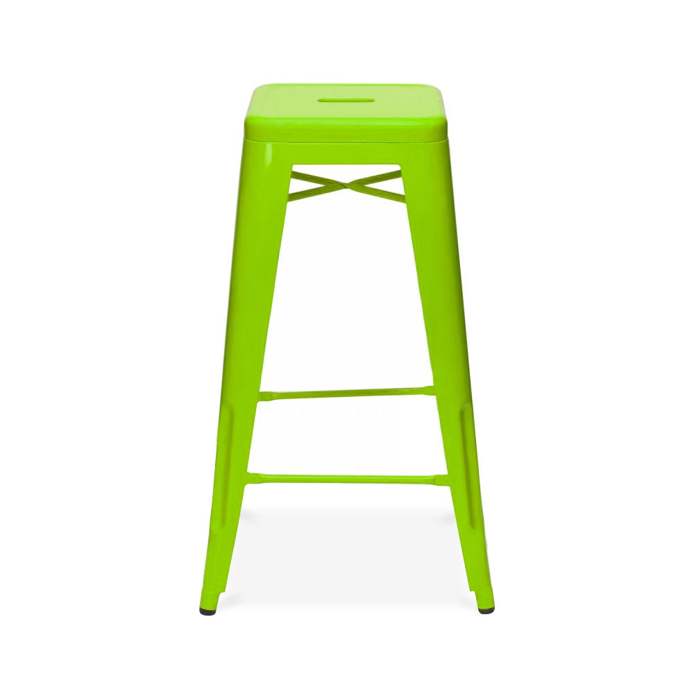 Lime Green Powder Coated 75cm Tolix Style Industrial Stool ...