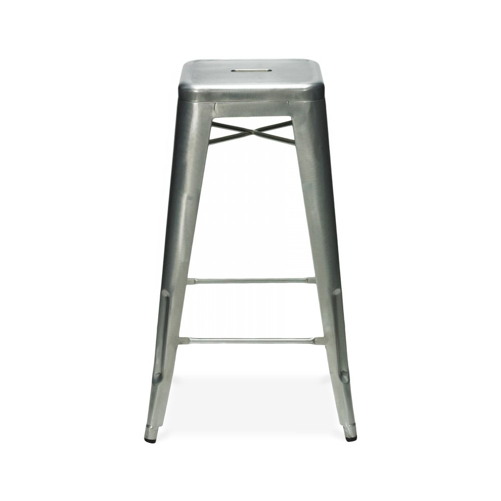 Tolix Style Metal Stool Galvanised cm