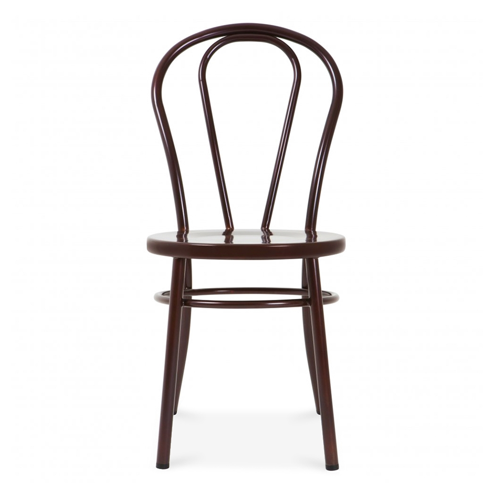 Red Copper Thonet Style Retro Bentwood Steel Chair