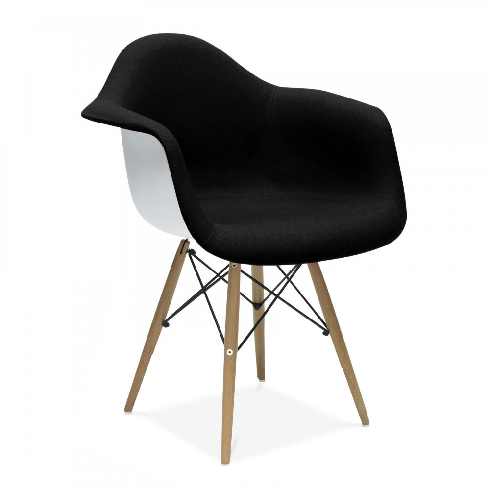 eames style upholstered black daw chair side cafe. Black Bedroom Furniture Sets. Home Design Ideas