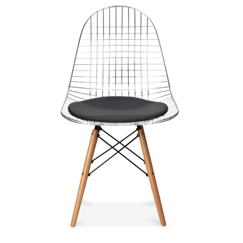 Style chrome dkr wire chair with natural wood legs cult uk iconic designs style chrome dkr wire chair with natural wood legs keyboard keysfo Gallery