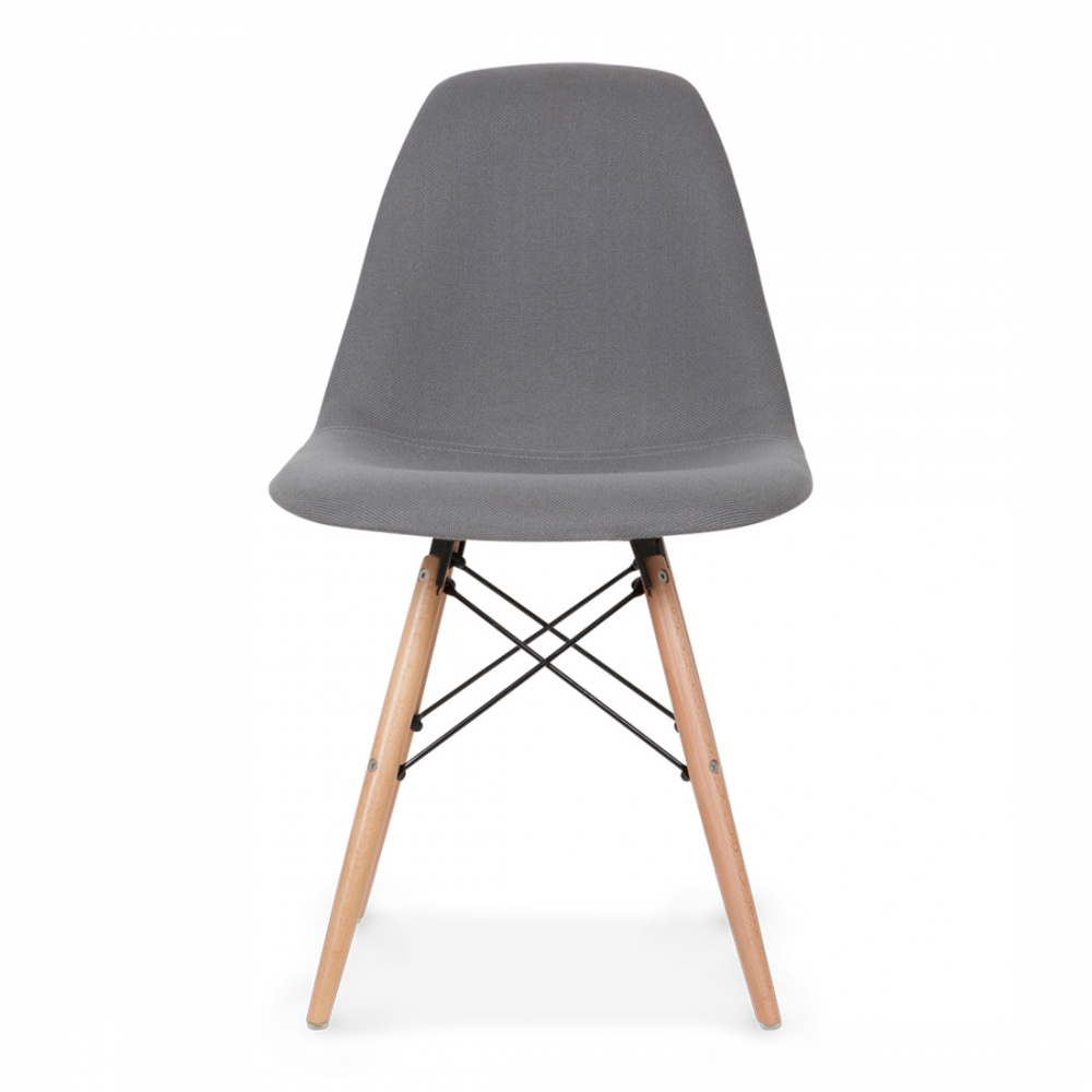 Eames style grey dsw chair upholstered dining chairs for Furniture chairs