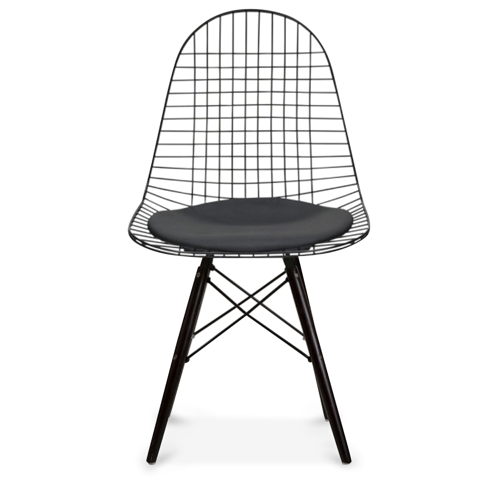 Style chrome dkr wire chair with natural wood legs cult uk iconic designs style black dkr wire chair with black wood legs keyboard keysfo Gallery